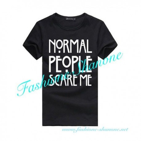 Niggas in Paris - NORMAL PEOPLE SCARE ME black t-shirt