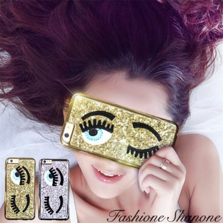 Glitter eyes phone case
