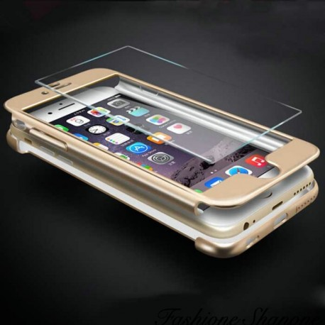 Second skin phone case with glass tempered