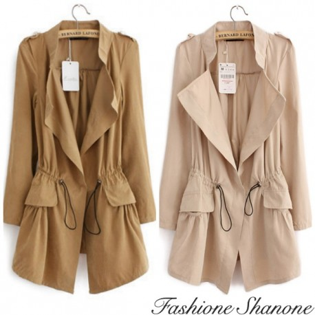 Long trench jacket