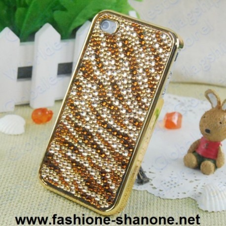 Coque Iphone 4/4s strass tigré
