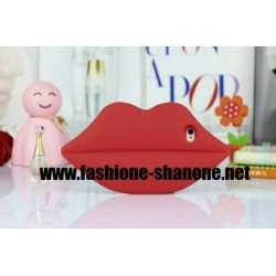 Coque IPHONE 5/5S bouche rouge