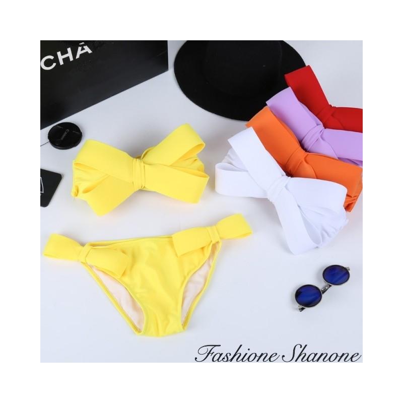 Bikini bandeau noeud 3D