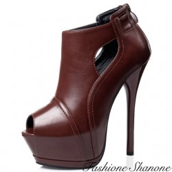 Bottines plateformes peep toe