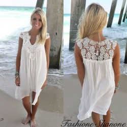 Robe blanche boho