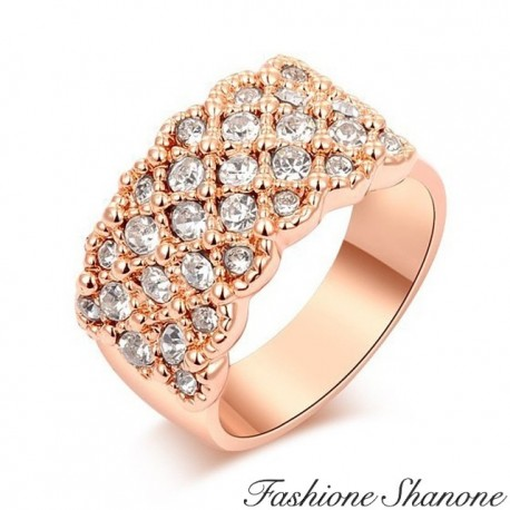 Filled with diamonds ring