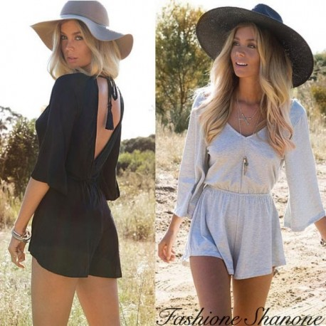 Fashione Shanone - Wide waisted shorts jumpsuit