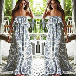 Fashione Shanone - Robe longue bustier style bohémienne