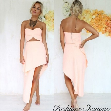 Fashione Shanone - Strapless top and asymmetrical skirt set