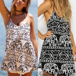 Fashione Shanone - Casual dress with elephant pattern