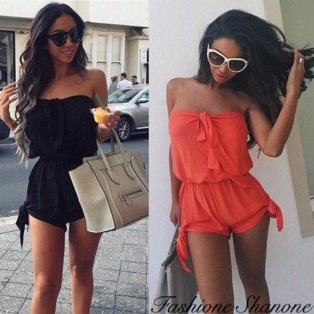Fashione Shanone - Strapless shorts jumpsuit