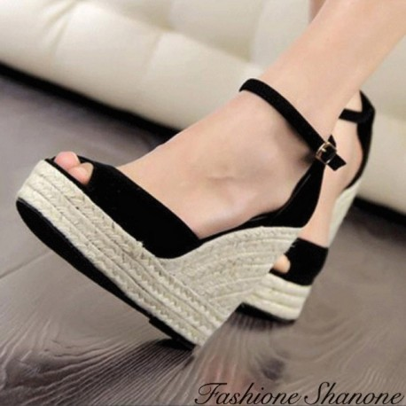 Fashione Shanone - Ankle strap wedge sandals