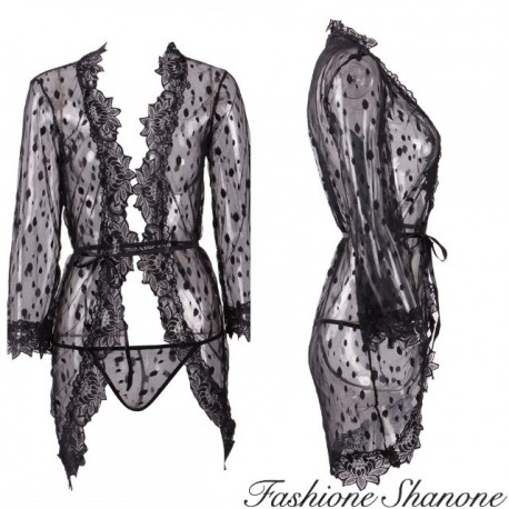 Fashione Shanone - Matching dressing gown and thong