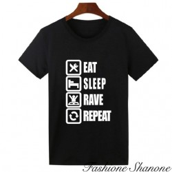"Fashione Shanone - T-shirt ""eat, sleep, rave, repeat"""