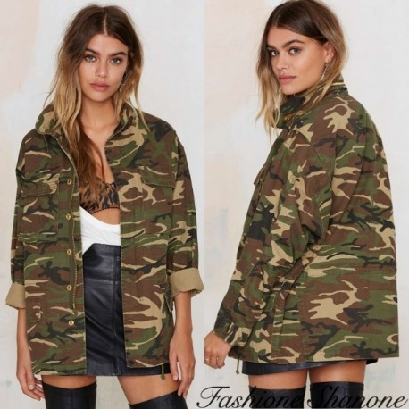 Fashione Shanone - Loose-fitting military jacket