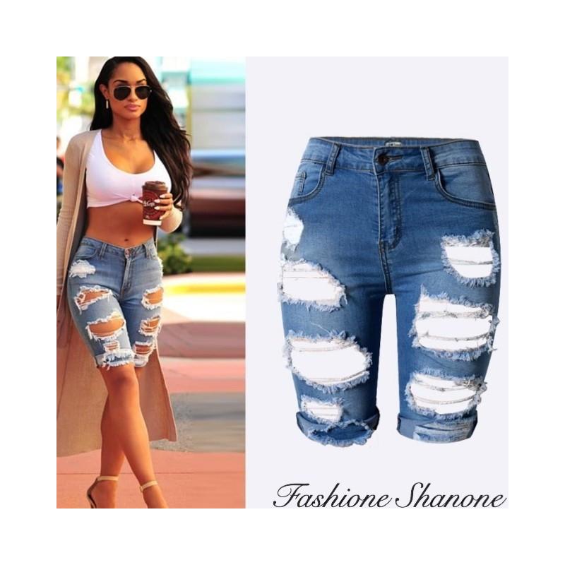 Fashione Shanone - Destroy denim shorts