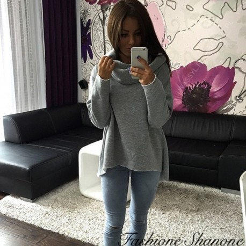 Fashione Shanone - Loose-fitting turtleneck sweatshirt