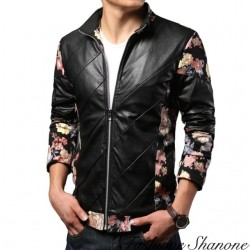 Fashione Shanone - Floral leather jacket