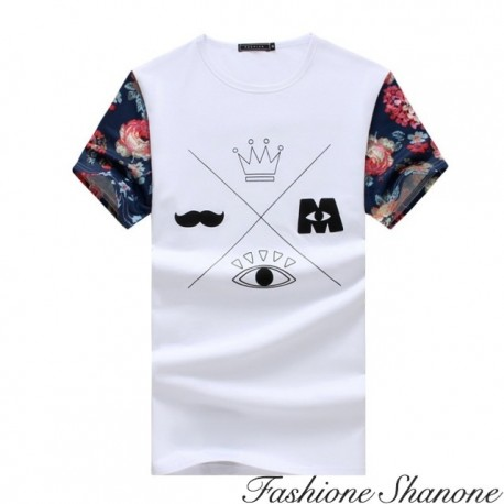 Fashione Shanone - T-shirt with floral sleeves