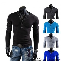 Fashione Shanone - T-shirt boutonné manches longues