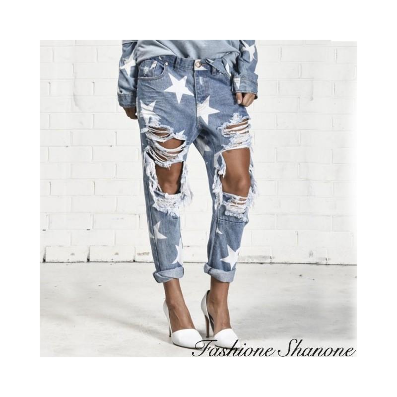 Fashione Shanone - Destroy star jeans