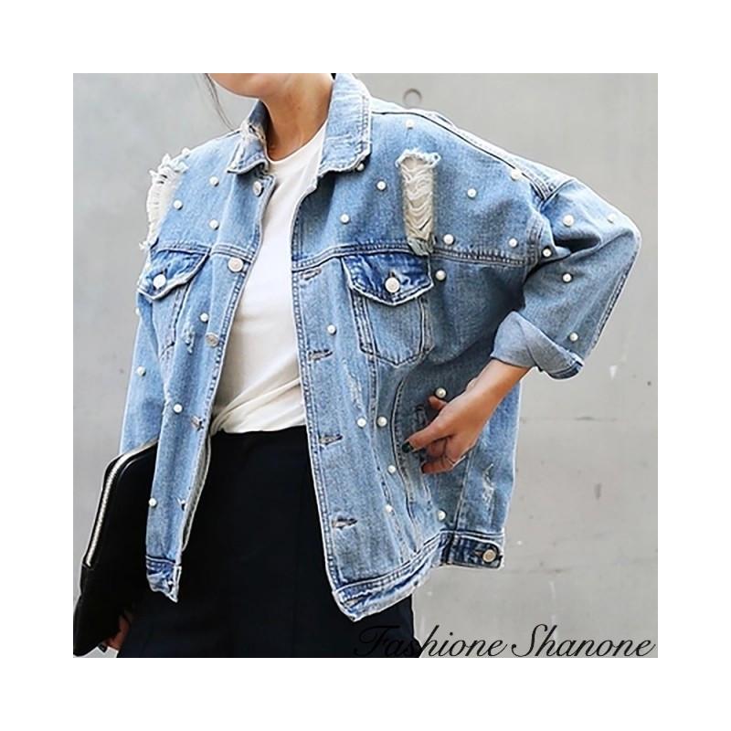 Fashione Shanone - Beaded denim jacket