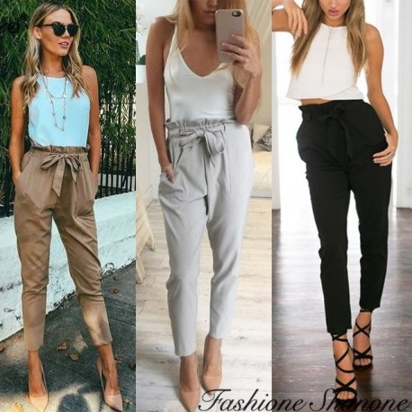 Fashione Shanone - Fluid carrot trousers