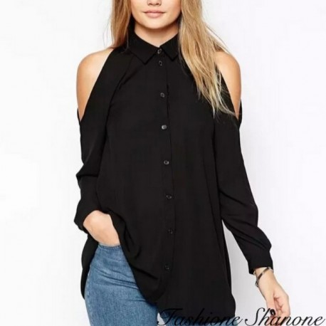 Fashione Shanone - Uncovered shoulders shirt