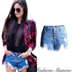 Fashione Shanone - Short en jean taille haute