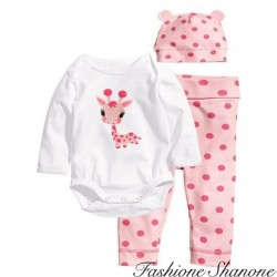 Fashione Shanone - Ensemble body pantalon et bonnet girafe