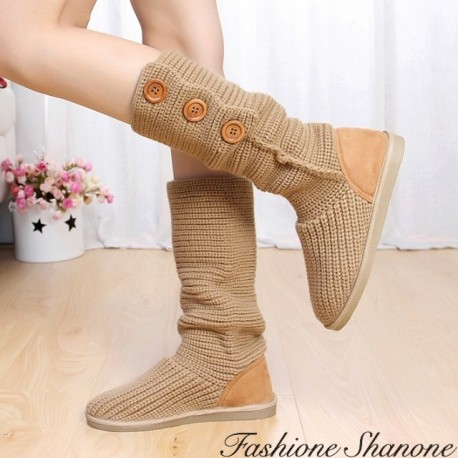 Fashione Shanone - Wool buttons boots