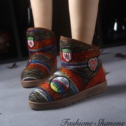 Fashione Shanone - Bottines Hippie multicouleur