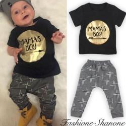 Fashione Shanone - Mama's boy T-shirt and pants set
