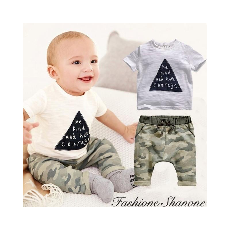 Fashione Shanone - T-shirt and military pants set