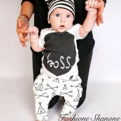 Fashione Shanone - Ensemble T-shirt boss et pantalon indien