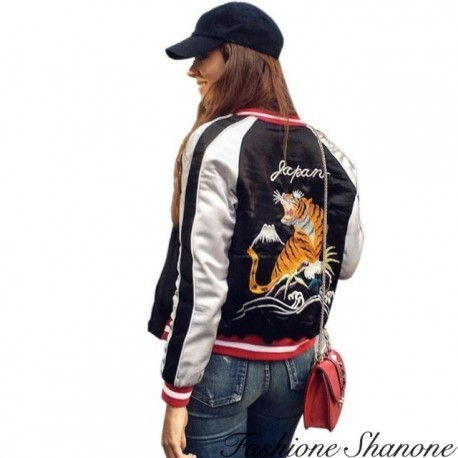 Fashione Shanone - Tiger and Eagle reversible bomber