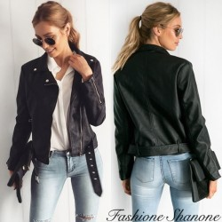 Fashione Shanone - Black leather perfecto jacket