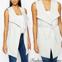 Fashione Shanone - Sleeveless white jacket
