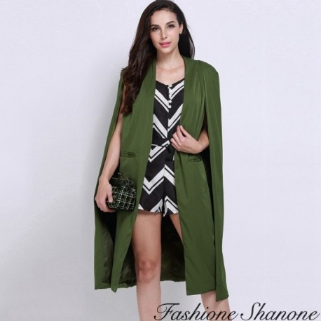 Fashione Shanone - Long cape coat