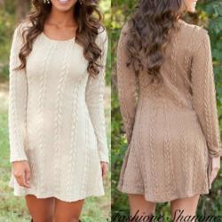 Fashione Shanone - Robe en laine torsadée