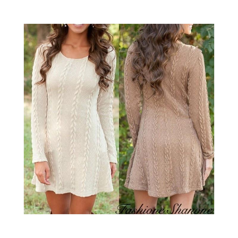 Fashione Shanone - Twisted wool dress