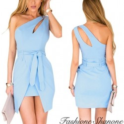 Fashione Shanone - Asymmetric blue dress