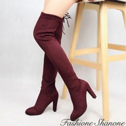 Fashione Shanone - Cuissardes en suédine