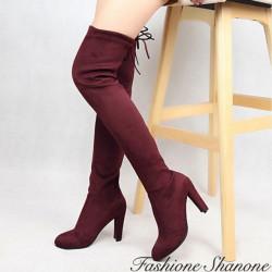 Fashione Shanone - Suede thigh high boots