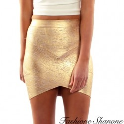 Fashione Shanone - Golden slinky skirt