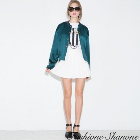 """Fashione Shanone - """"Eye of the tiger"""" green bomber"""