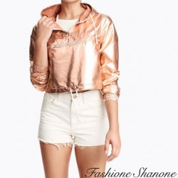 Fashione Shanone - gold pink crop k-way