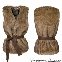 Fashione Shanone - Sleeveless fur jacket