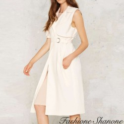 Fashione Shanone - Knee-lenght sleeveless jacket