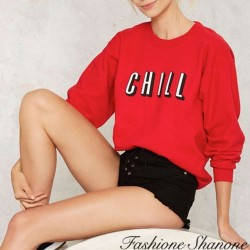Sweat rouge CHILL